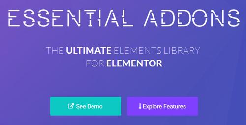 افزودنی های ضروری المنتور Essential Addons for Elementor