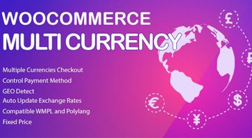 افزونه نمایش قیمت محصولات با ارز های مختلف WooCommerce Multi Currency ووکامرس نسخه 2.1.8.1
