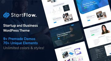 قالب چند منظوره Start Flow وردپرس نسخه 1.3