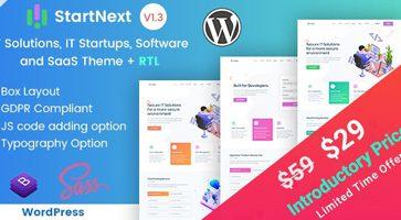 پوسته شرکتی و استارت آپی StartNext وردپرس نسخه 3.1.0