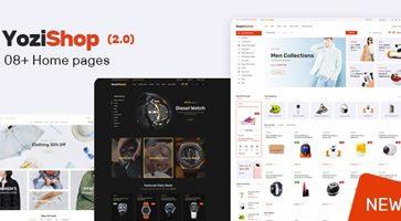 پوسته فروشگاهی و چند فروشندگی Yozi وردپرس نسخه 2.0.21