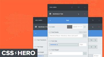 افزونه سفارشی سازی زنده قالب وردپرس CSS Hero Pro نسخه 4.20