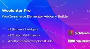 افزودنی WooLentor برای صفحه ساز Elementor ووکامرس نسخه 1.3.4