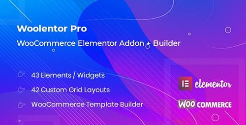 افزودنی WooLentor برای صفحه ساز Elementor ووکامرس