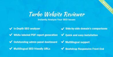 اسکریپت بررسی و تحلیل سرعت و SEO سایت Turbo Website Reviewer نسخه 2.1