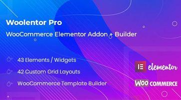 افزونه فارسی WooLentor Pro افزودنی های المنتور برای ووکامرس نسخه 1.5.2