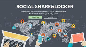 اشتراک گذاری مطالب در ازای دانلود Social Share & Locker Pro وردپرس نسخه 7.5