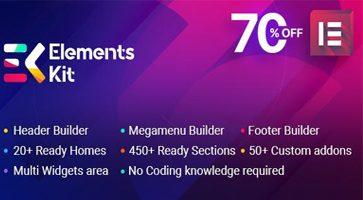 افزونه Elements Kit افزودنی های المنتور وردپرس نسخه 2.1.3