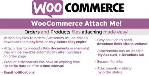 افزونه ضمیمه کردن فایل به سفارشات WooCommerce Attach Me ووکامرس نسخه ۱۸٫۳