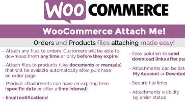 افزونه ضمیمه کردن فایل به سفارشات WooCommerce Attach Me ووکامرس نسخه 18.3