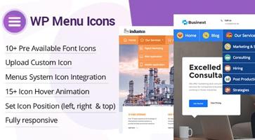 افزونه اضافه کردن آیکون فهرست WP Menu Icons در وردپرس نسخه 1.1.2