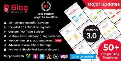 افزونه طراحی و زیباسازی وبلاگ blog designer PRO وردپرس نسخه : 3.0