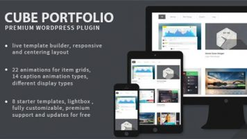 افزونه ساخت نمونه کار  Cube Portfolio وردپرس نسخه : 1.16.6
