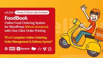 افزونه سیستم سفارش و تحویل آنلاین غذای FoodBook وردپرس نسخه : 3.3.0
