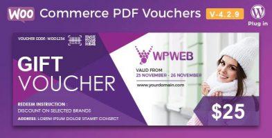 افزونه کوپن تخفیف WooCommerce PDF Vouchers وردپرس نسخه:4.2.9