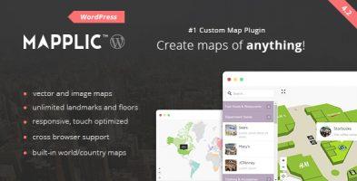 افزونه نقشه تعاملی سفارشی Mapplic وردپرس نسخه 6.2.1