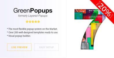 افزونه Green Popups وردپرس نسخه 7.21