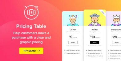 افزونه جدول قیمت گذاری Pricing Table وردپرس نسخه : 2.6.1