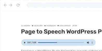 افزونه تبدیل متن به گفتار Speaker وردپرس نسخه : 2.0