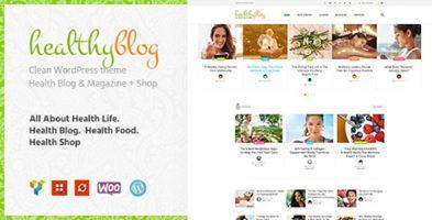 پوسته فروشگاهی و وبلاگی Healthy Living وردپرس ورژن 1.2.3