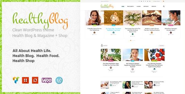 پوسته فروشگاهی و وبلاگی Healthy Living وردپرس ورژن ۱٫۲٫۳