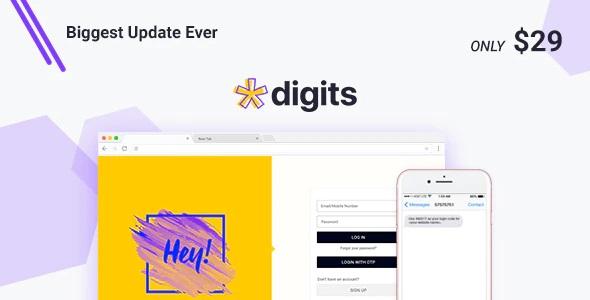 افزونه ثبت نام و ورود شماره موبایل Digits وردپرس نسخه 7.8.0.1