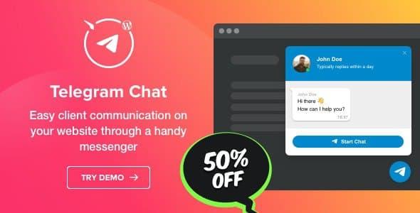 افزونه چت تلگرام برای وردپرس