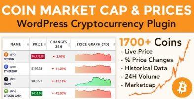 افزونه ارزهای دیجیتال Coins MarketCap وردپرس نسخه 4.2.1