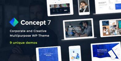 پوسته چند منظوره و پاسخگوی Concept Seven وردپرس نسخه 1.11