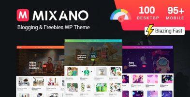 قالب مینیمال Mixano وردپرس نسخه 1.1.6