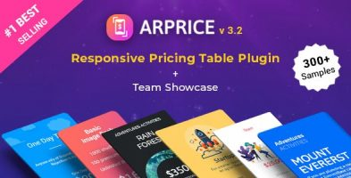 افزونه جدول قیمت گذاری ARPrice وردپرس نسخه 3.8.1