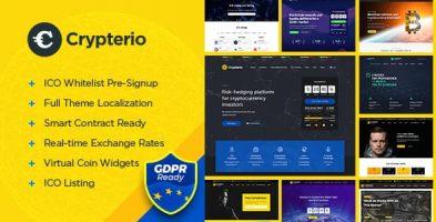 قالب صرافی و ارز دیجیتال Crypterio وردپرس نسخه 2.4.2