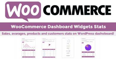 افزونه WooCommerce Dashboard Widgets Stats نسخه 5.6 وردپرس