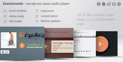 افزونه پخش صوتی ZoomSounds وردپرس نسخه 6.41