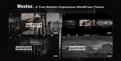 پوسته نمونه کار خلاقانه Westex وردپرس نسخه 1.0