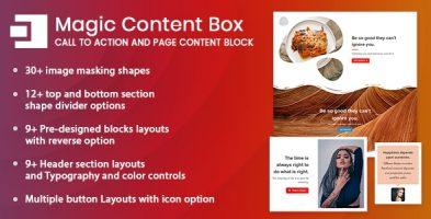 افزونه سازنده بلوک محتوای صفحات گوتنبرگ Magic Content Box وردپرس نسخه 1.0.0