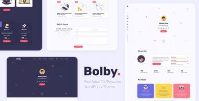 قالب شخصی و رزومه ساز  Bolby وردپرس نسخه 1.0.2