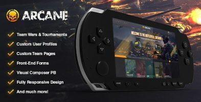 قالب گیم و بازی Arcane وردپرس نسخه 3.6.3