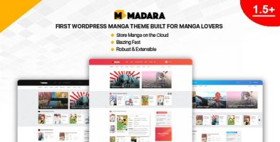 پوسته وردپرسی برای مانگا Madara نسخه 1.6.7.3