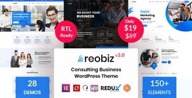 قالب چند منظوره شرکتی  Reobiz وردپرس نسخه 4.5