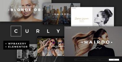 پوسته آرایشگاه و سالن زیبایی Curly نسخه 2.4.1