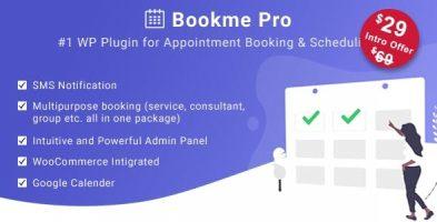 افزونه رزرو آنلاین Bookme Pro وردپرس نسخه 1.2