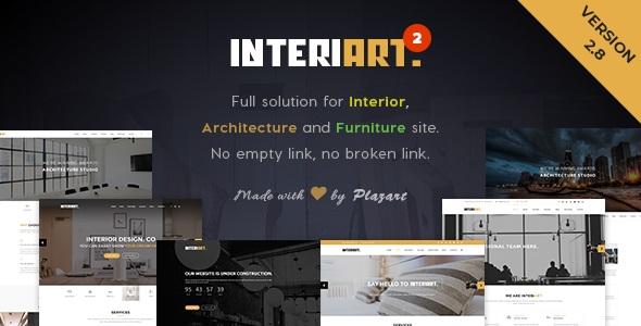 قالب مبلمان و دکوراسیون داخلی InteriArt وردپرس