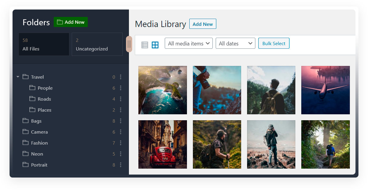 افزونهمدیریت فایل Mediabay وردپرس