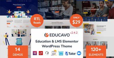 قالب آموزش آنلاین Educavo وردپرس نسخه 2.7.7