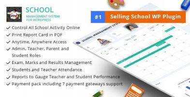 افزونه مدیریت مدرسه School Management System وردپرس نسخه 75.0