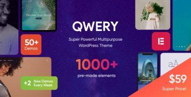قالب چند منظوره Qwery وردپرس نسخه RTL + 1.1.4