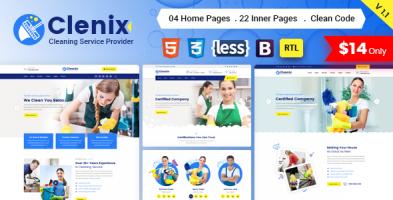 قالب خدمات نظافتی Clenix نسخه 1.4.4