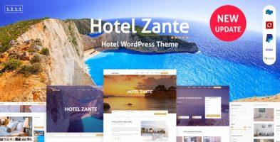 قالب رزرو هتل Zante وردپرس نسخه 1.3.4.8