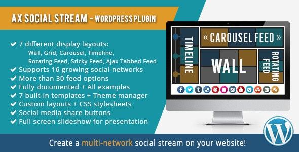 افزونه مدیریت حرفه ای شبکه های اجتماعی AX Social Stream